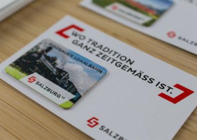 Präsentationsmappe für Touristische Bahnen der Salzburg AG